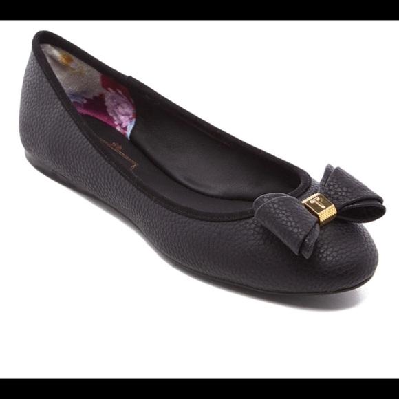 Ted Baker Shoes   Black Immet Flat